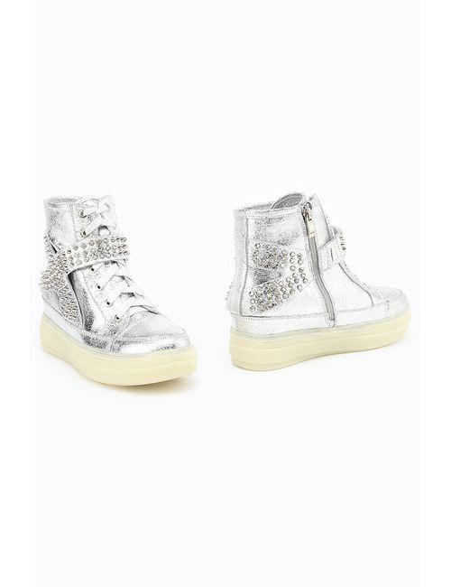 ENISSE | Женские Серебряные Ботинки