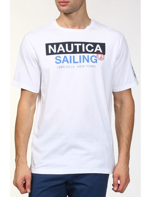 Nautica | Мужская Белая Футболка