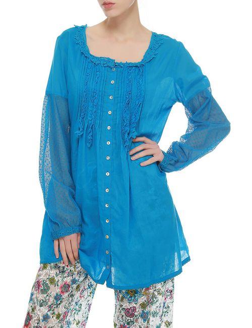 Rosapois | Женская Синяя Блуза