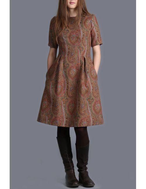 ЭНСО | Женское Коричневое Платье