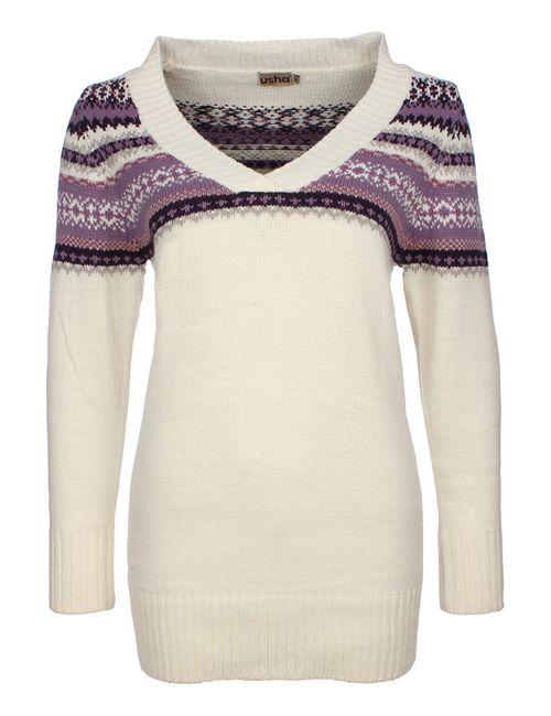 Usha   Женский Фиолетовый Пуловер