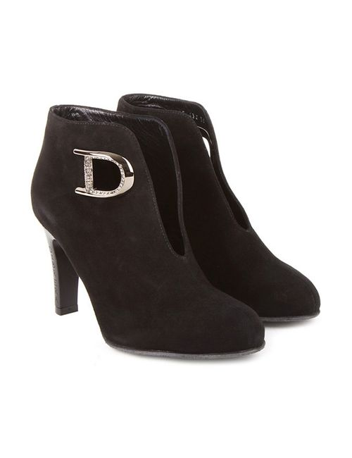 Dibrera | Женские Чёрные Ботильоны