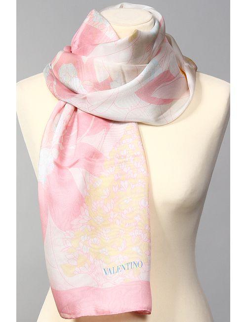 Valentino | Женский Розовый Палантин