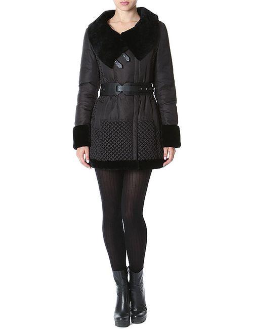 Acasta | Женское Чёрное Пальто Пуховое