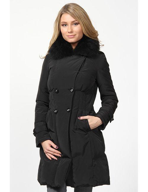 La Reine Blanche | Женское Чёрное Пальто Пуховое