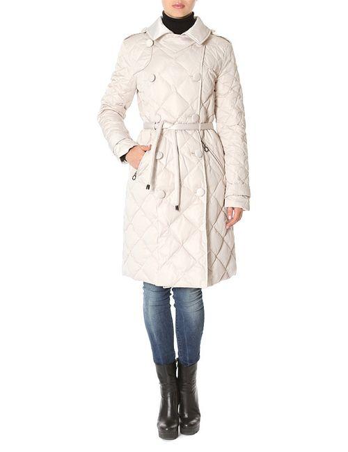 La Reine Blanche   Женское Бежевое Пальто Пуховое