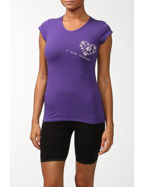 Snelly   Женская Фиолетовая Футболка