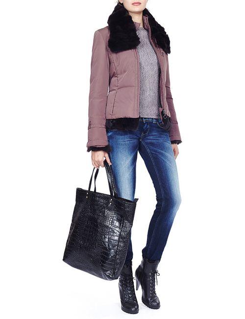 Acasta | Женская Коричневая Куртка Пуховая