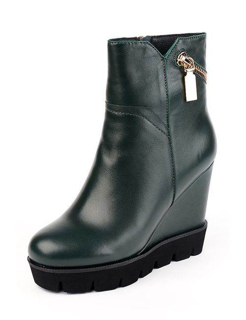 Grand Style | Женские Зелёные Ботинки