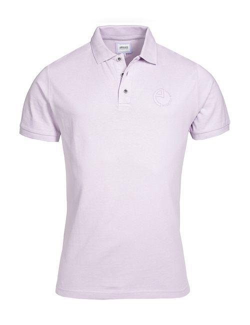 Armani Collezioni | Мужская Фиолетовая Рубашка-Поло