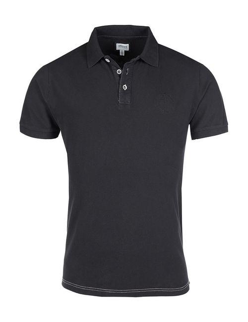 Armani Collezioni | Мужская Чёрная Рубашка-Поло