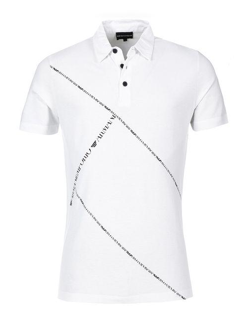 Emporio Armani | Мужская Белая Рубашка-Поло