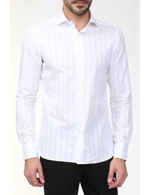 Bagutta | Мужская Белая Сорочка