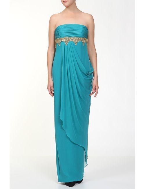 Marchesa Notte | Женское Голубое Платье Вечернее