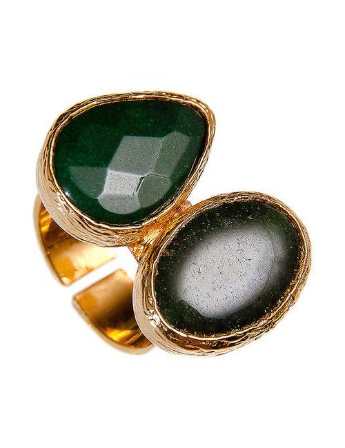 Kameo-Bis | Женское Зелёное Кольцо