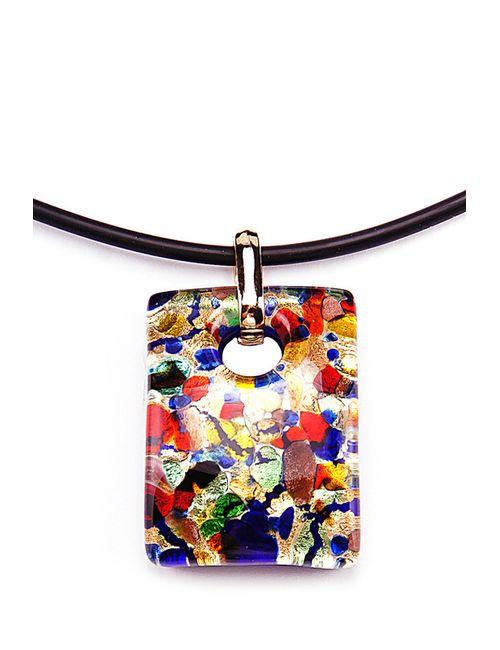 Bottega Murano | Женский Многоцветный Кулон 3Х4 На Каучуке