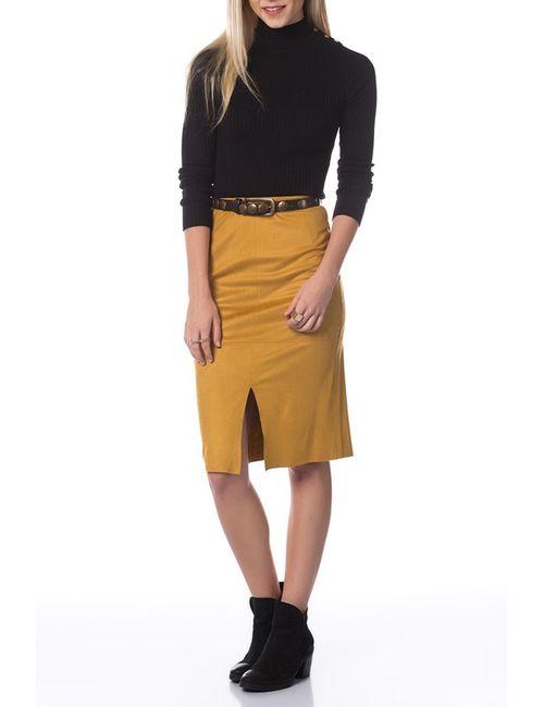 Dilvin | Женская Жёлтая Юбка