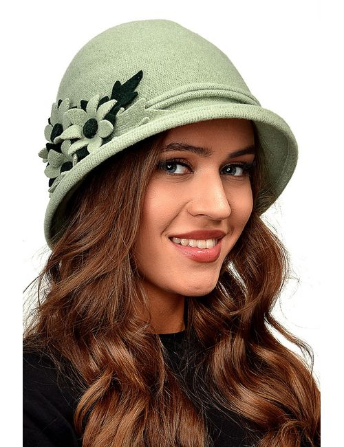 Tonak | Женская Зелёная Шляпа