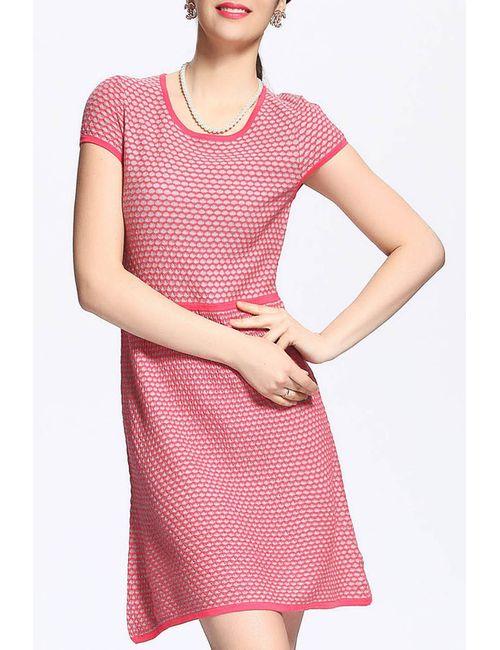 QIANQIU   Женское Розовое Платье