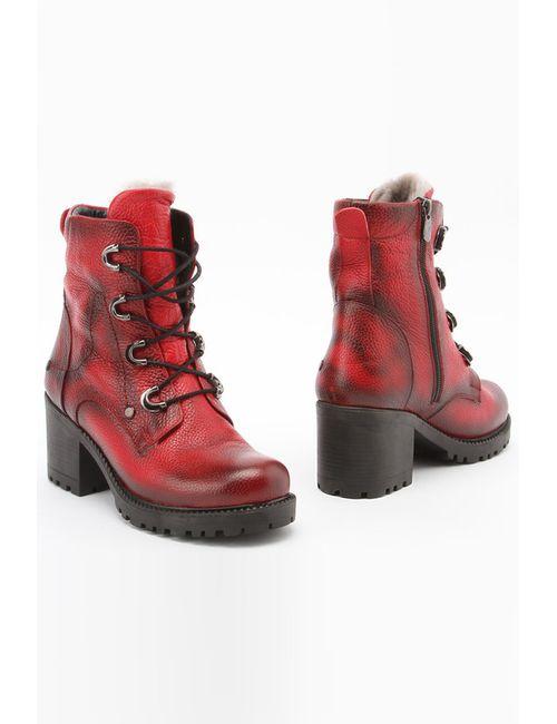 Spring Way | Женские Красные Ботинки