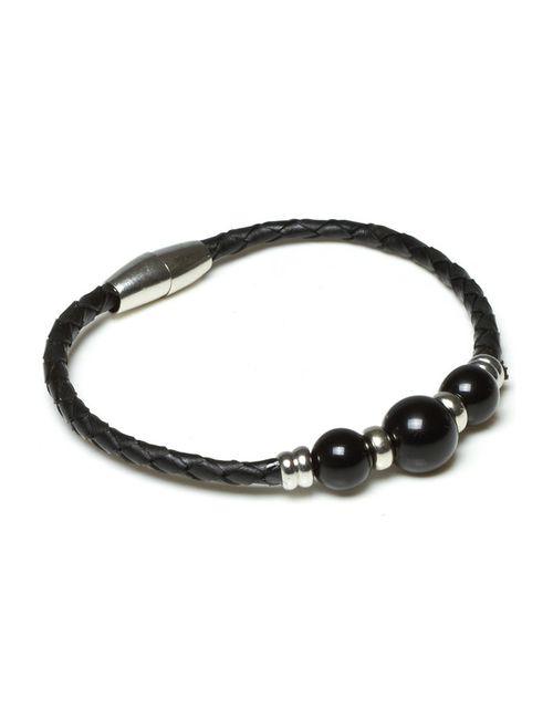 Kyoto pearl | Женский Чёрный Браслет
