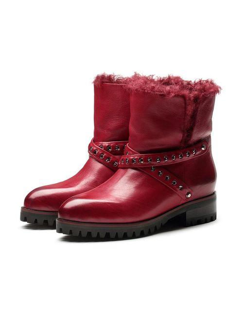 O.E | Женские Красные Ботинки