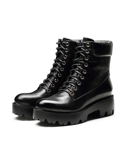 O.E | Женские Чёрные Ботинки