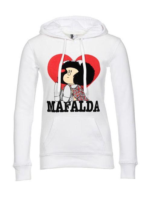 Mafalda | Женская Белая Толстовка