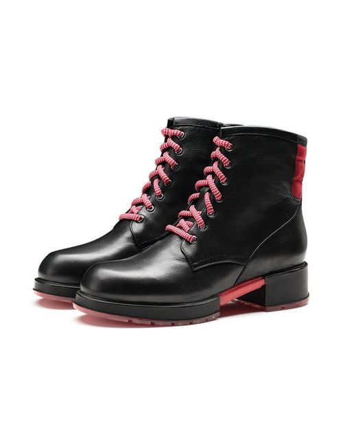 O.E   Женские Чёрные Ботинки