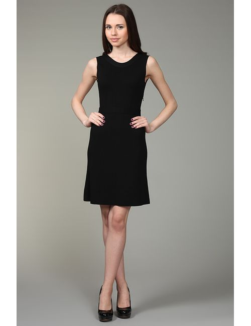Valentino Roma | Женское Чёрное Платье Вязаное