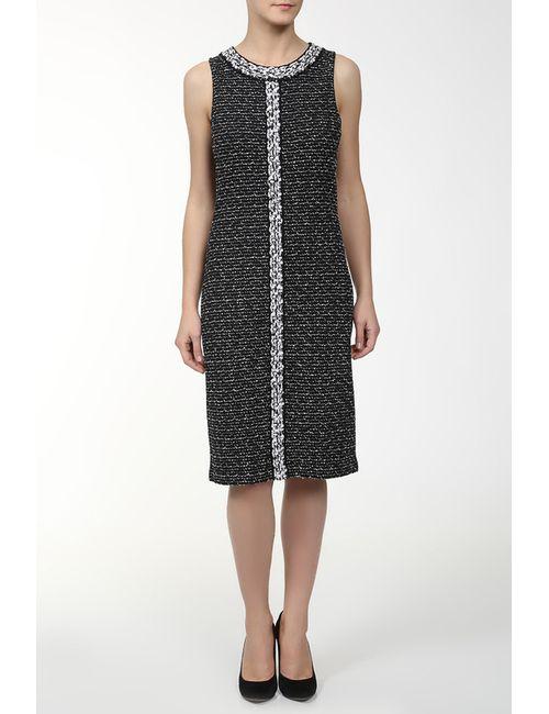 St. John | Женское Чёрное Платье Вязаное