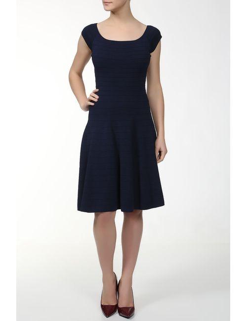 Donna Karan | Женское Синее Платье Вязаное