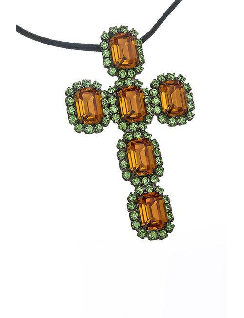 Kenneth Jay Lane | Женская Многоцветная Подвеска Крест С Топазами
