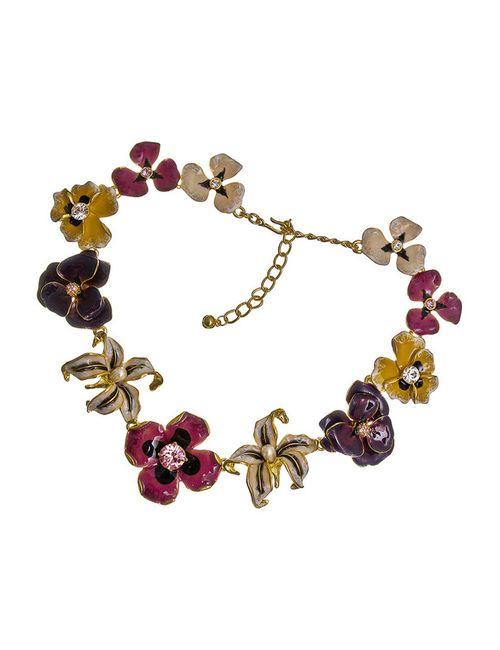 Kenneth Jay Lane | Женское Многоцветное Ожерелье Цветы Шанель