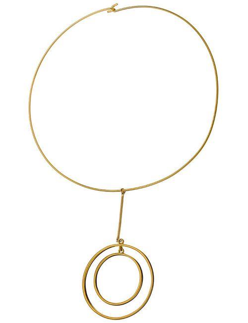 Kenneth Jay Lane | Женское Многоцветное Ожерелье Золотые Круги