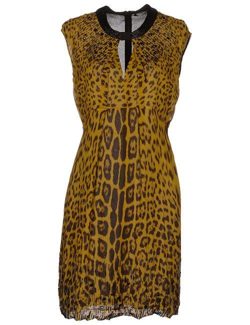 Roberto Cavalli | Женское Зелёное Платье