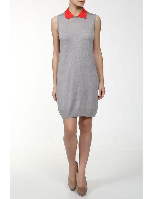 Unee+O | Женское Серое Платье Вязаное С Поясом
