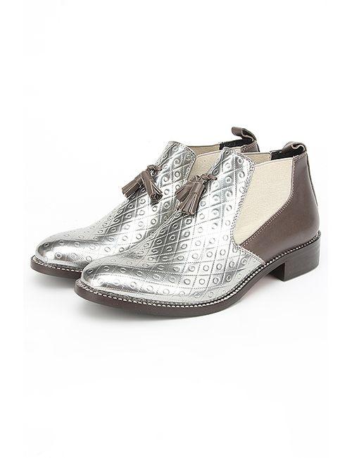 Bouton | Женские Серебряные Ботинки