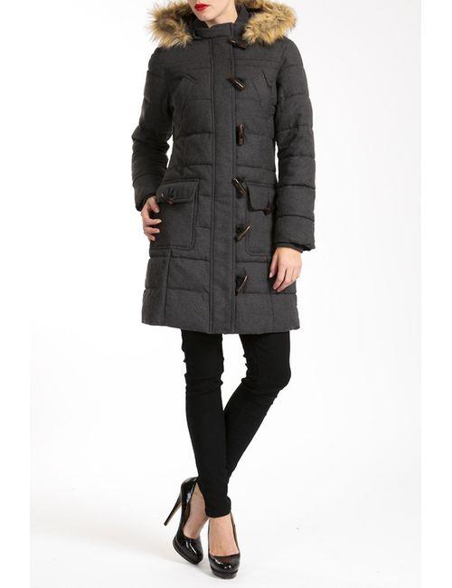 Lea Fashion   Женское Серое Пальто