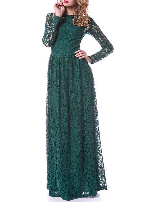 OKS   Женское Зелёное Платье