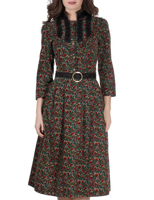 Olivegrey | Женское Зелёное Платье