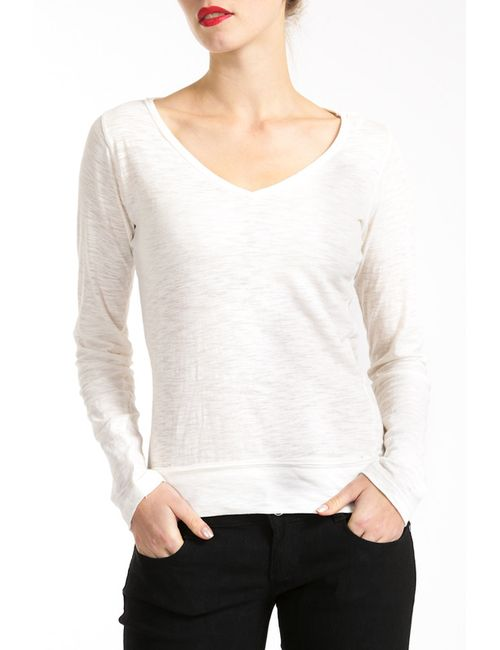 Lea Fashion | Женский Белый Лонгслив