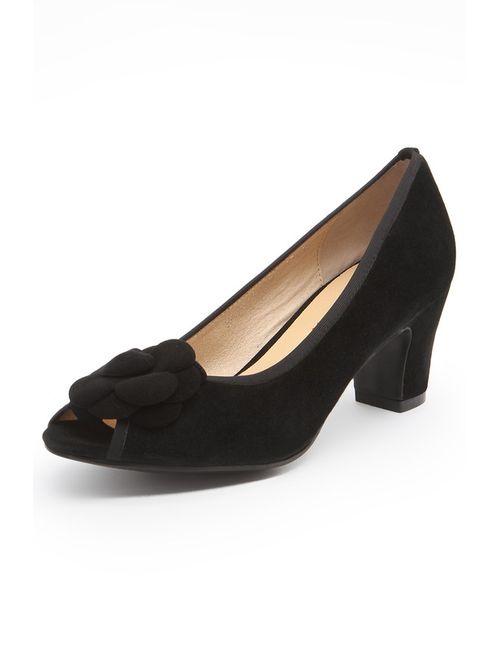 Evita | Женские Чёрные Туфли Открытые