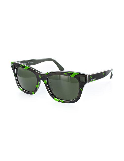 Valentino | Женские Зелёные Очки Солнцезащитные
