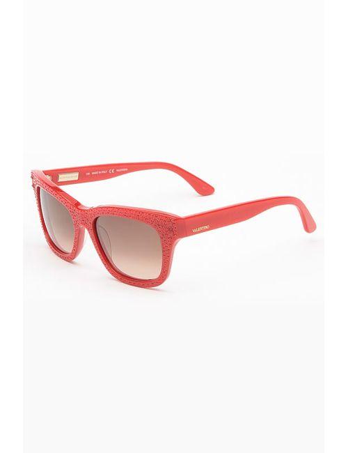 Valentino | Женские Красные Очки Солнцезащитные