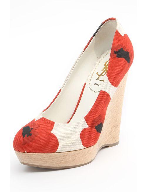 Saint Laurent | Женские Красные Туфли