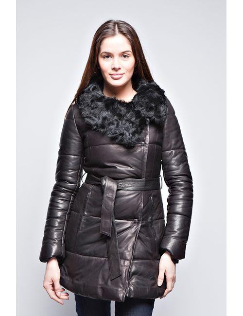 Giorgio | Женская Чёрная Кожаная Куртка