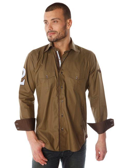 Gazoil | Мужская Оранжевая Рубашка