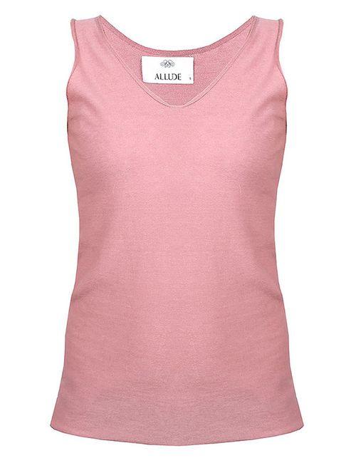 Allude | Женская Розовая Майка