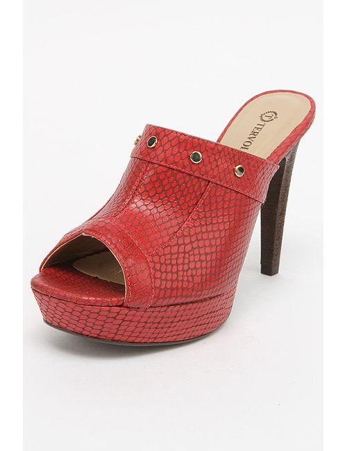 Tervolina | Женские Красные Туфли Летние Открытые